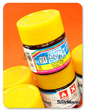 Pintura acrílica Mr Hobby - Amarillo translucido - Aqueous Hobby Color - Clear Yellow - 10ml
