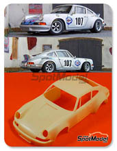 Transkit 1/24 Scale Production - Porsche 911 RSR - Calcas NO incluidas 1973 - resinas + fotograbados + … para kits de Fujimi