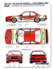 Calcas 1/24 Reji Model - BMW 635 Csi Lucky Strike - Nº 8 - M. Delcourt + D. Swyssen + J.M. Baert - Gran Premio de Breno 1983 para kit de Tamiya TAM24322
