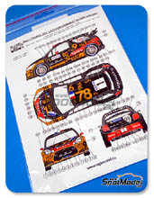 Calcas 1/24 Reji Model - Citroen DS3 WRC Total - Nº 1 - S. Loeb + D. Elena - Rally de Francia 2013 para kit de Heller 80757 y 80758