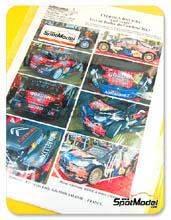 Calcas 1/24 Renaissance Models - Citroen DS3 WRC Gordon Finest Beers - Nº 1 - Sebastien Loeb - Condroz Rally 2013 para kit de Heller 80757 y 80758