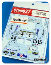 Decals 1/24 Studio27 - Toyota Celica ST165 Mobil Rasta - Nº 4 - Mats Jonson + Lars Rackman - Rally de Suecia 1989 - 1991 - 1992 para kit de Aoshima AOSH-081198