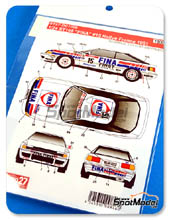 Decals 1/24 Studio27 - Toyota Celica ST165 Fina - Nº 15 - Klaus Wicha + Marc Duez - Rally de Francia 1991 para kit de Aoshima AOSH-081198
