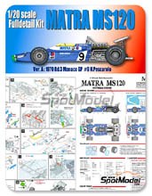 Kit 1/20 Model Factory Hiro - Matra MS120 ELF - Nº 9 - H. Pescarolo - Gran Premio de Monaco 1970 - kit Multimedia