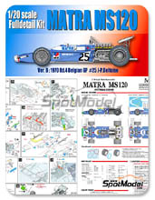 Kit 1/20 Model Factory Hiro - Matra MS120 ELF - Nº 25 - J.P. Beltoise - Gran Premio de Belgica 1970 - kit Multimedia