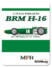 Kit 1/43 Model Factory Hiro - BRM H-16 - Nº 14 - J. Stewart - Gran Premio de Belgica 1967 - kit Multimedia