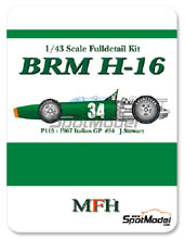 Kit 1/43 Model Factory Hiro - BRM H-16 - Nº 34 - J. Stewart - Gran Premio de Italia 1967 - kit Multimedia