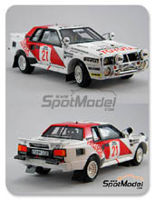 Kit 1/24 Scuderia Italia.Lab - Toyota Celica TA64 Group B - Nº 21 - Safari Rally 1985 - 1986 - kit Multimedia