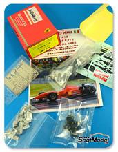 Kit 1/43 Tameo Kits - Ferrari F310 Marlboro - Nº 1, 2 - Michael Schumacher, E. Irvine - Gran Premio de España 1996 - kit multimedia de metal blanco