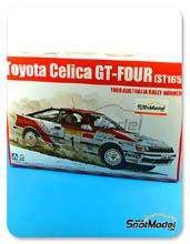 Kit 1/24 Aoshima - Toyota Celica GT-Four ST165 Repsol - Nº 1 - Juha Kankkunen + Juha Pironen - Rally de Australia 1989 - maqueta de plástico