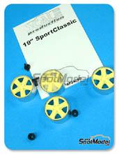 Llanta 1/24 Scale Production - 19 inches Porsche Sport Classic - sin neumaticos - piezas de metal + resinas - 4 unidades