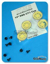 Llanta 1/24 Scale Production - 19 pulgadas BBS GT3 Cup - sin neumaticos - resinas + piezas de metal - 4 unidades