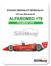 Kit 1/20 Studio27 - Alfa Romeo 179 - Version de prensa 1980 - kit Multimedia