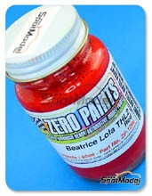 Pintura Zero Paints - Rojo Lola - Beatrice-Lola THL2 Ford THL2 Red - 60ml para Aerógrafo
