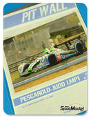 Calcas 1/24 Pit Wall - Pescarolo Judd LMP1 PlayStation - Nº 16 - 24 Horas de Le Mans 2009 para kit de SimilR 151105
