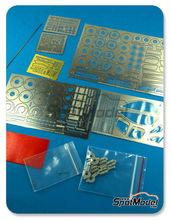 Fotograbados 1/24 Hobby Design - Mclaren F1 GTR Long Tail - fotograbados + piezas de metal + resinas para kits de Aoshima