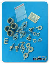 Mejora 1/24 Hobby Design - BMW M3: Frenos y llantas - DTM - fotograbados + piezas de metal + resinas para kits de Revell REV07178, REV07082