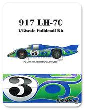 Maqueta de coche 1/12 Model Factory Hiro - Porsche 917LH Psychedelic Martini Racing - Nº 3 - Gerard Larrousse + Willi Kauhsen - 24 Horas de Le Mans 1970 - kit Multimaterial