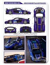 Calcas 1/24 Hobby Design - McLaren MP4-12C GT3 Gemballa - Nº 30 - American Le Mans Series 2012 para kit de Fujimi