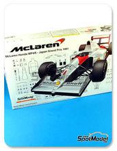 Maqueta de coche 1/20 Fujimi - McLaren MP4/6 Shell - Nº 1, 2 - Ayrton Senna, Gerard Berger - Gran Premio de Japón 1991 - maqueta de plástico