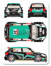 Calcas 1/24 Racing Decals 43 - Skoda Fabia S2000 New Zealand - Nº 31 - Paddon + Kennard - Rally de Portugal 2012 para kit de Belkits BEL-004