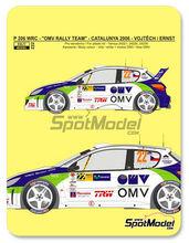 Calcas 1/24 Reji Model - Peugeot 206 WRC OMV - Nº 22 - Vojtech + Ernst - Rally de Cataluña 2006 para kits de Tamiya TAM24221, TAM24226 y TAM24236