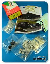 Maqueta de coche 1/43 Tameo Kits - Lotus Ford Type 78 John Player Special - Nº 6 - Ronnie Peterson - Gran Premio de Italia 1978 - maqueta de metal