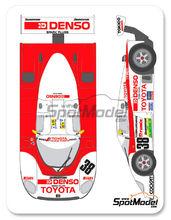 Calcas 1/24 Shunko Models - Toyota 88C Denso - Nº 38 - K. Hoshino + K. Suzuki + D. Artzet - 24 Horas de Le Mans 1989 para kit de Hasegawa