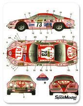 Calcas 1/24 Studio27 - Renault Alpine A110 BIC - Nº 73 - M. Hoepener + Y. Yanoui - Tour de France 1982 para kit de tamiya TAM24278