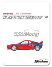 Calcas 1/24 Studio27 - Lancia 037 - Shakedown - Pirelli Testing Martini - Rally de Portugal 1985 para kit de Hasegawa