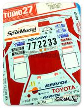 Calcas 1/24 Studio27 - Toyota Celica GT Four ST165 Repsol Marlboro - Nº 2, 3, 7 - Carlos Sainz + Luis Moya - Rally de los 1000 Lagos + Sanremo + RAC 1989 para kit de Aoshima AOSH-081198