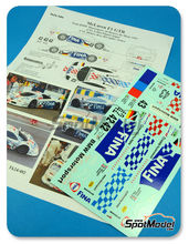 Calcas 1/24 Renaissance Models - McLaren F1 GTR Long Tail Fina - Nº 42, 43 - Lehto + Piquet + Soper, Helary + Kox + Ravaglia - 24 Horas de Le Mans 1997 para kits de Fujimi FJ12580, FJ12581, FJ12582 y kit de Aoshima AOSH-00749