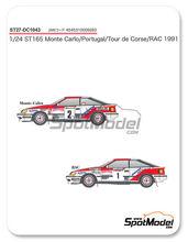 Calcas 1/24 Studio27 - Toyota Celica GT-Four ST165 Marlboro - Nº 2 - Carlos Sainz + Luis Moya - Tour de Corse + Portugal + Tour de Corse + RAC 1991 para kit de Aoshima AOSH-081198