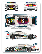 Calcas 1/24 Racing Decals 43 - BMW M3 Ice Watch - Nº 21 - Markus Wittmann - DTM 2013 para kit de Revell REV07178 y REV07082