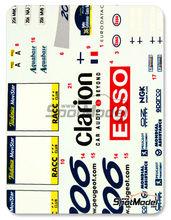 Calcas 1/24 Reji Model - Peugeot 206 WRC Esso Ultron Clarion  - Rautianen + Gronholm - Rally de Cataluña 2000 para kit de Tamiya TAM24267
