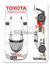 Calcas 1/24 Shunko Models - Toyota 88C Kenwood - Nº 98 - Chris Cord + Drake Olson + Steve Bren - IMSA 1989 para kit de Hasegawa