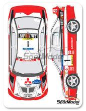 Calcas 1/24 Shunko Models - Mitsubishi Lancer Evo V Ralli Art - Nº 1, 2 - Makinen + Mannisenmaki, Burns + Reid - Rally de Cataluña 1998 para kit de Tamiya