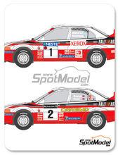 Calcas 1/24 Shunko Models - Mitsubishi Lancer Evo V Ralli Art - Nº 1, 2 - Makinen + Mannisenmaki, Burns + Reid - Rally de Finlandia + Gran Bretaña 1998 para kit de Tamiya
