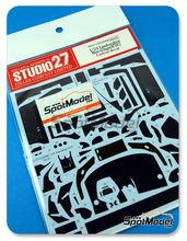 Patron de fibra de carbono en calca 1/24 Studio27 - Lamborghini Murcielago R-SV para kit de Aoshima