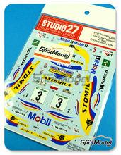 Calcas 1/24 Studio27 - Toyota Celica GT-Four WRC Stomil - Nº 3 - Holowczyc + Wislawski - Rally el Corte Ingles 1996 para Tamiya kit TAM24125