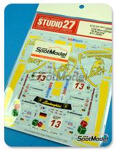 Calcas 1/24 Studio27 - Lamborghini Murcielago B-Racing - Nº 13 - Leuebenger + Franchitti + Walchhofer - FIA GT1 2006 para kit de Aoshima