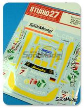 Calcas 1/24 Studio27 - Lamborghini Murcielago All-Inkl.com - Nº 7 - Mucke + Bouchut + Basseng - FIA GT1 2007 para kit de Aoshima