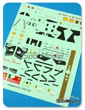 Calcas 1/43 Tameo Kits - Ferrari F14 T Banco Santander Nº 7, 14 - Fernando Alonso, Kimi Raikkonen - Gran Premio de Australia 2014