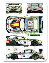 Calcas 1/24 Racing Decals 43 - BMW Z4 GT3 Randstad Nº 66, 77 - Palttala + Werner + Luht, Martin + Muller + Farfus - 24 Horas de Spa 2014 - para usar con kits de Fujimi FJ17009, FJ17010, FJ17015, FJ12593