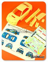 Transkit 1/24 Reji Model - Subaru Impreza WRC  Nº 3, 4 - Burns + Reid - Rally de Cataluña + San Remo 2000 - para usar con kits de Tamiya TAM24218, TAM24199
