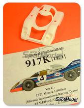 Maqueta de coche 1/24 Model Factory Hiro - Porsche 917K Martini Nº 3, 4 - Vic Elford + Gerard Larrousse, Helmut Marko + Gijs van Lennep - 1000 kms Monza 1971 - kit multimaterial