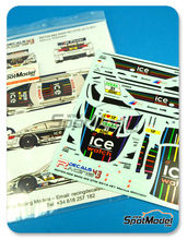 Calcas 1/24 Racing Decals 43 - BMW M3 Ice Watch Nº 21 - Markus Wittmann - DTM 2013 - para kits de Revell REV07178 y REV07082
