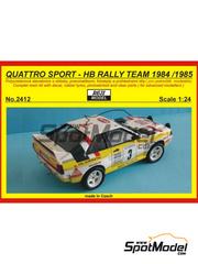 Maqueta 1/24 Reji Model - Audi Quattro Sport HB Nº 3 - Walter Röhrl - Rally de Montecarlo, Rally de San Remo 1984, 1985 - kit multimaterial