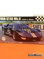 Maqueta de coche 1/24 Fujimi - Ford GT40 Mk II  Nº 2 - 24 Horas de Le Mans 1966 - kit de plástico