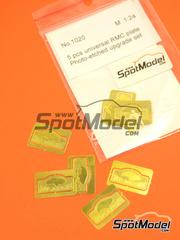 Fotograbados 1/24 Reji Model - Placas del Rally de Montecarlo  - Rally de Montecarlo  - para coches de rally - 5 unidades